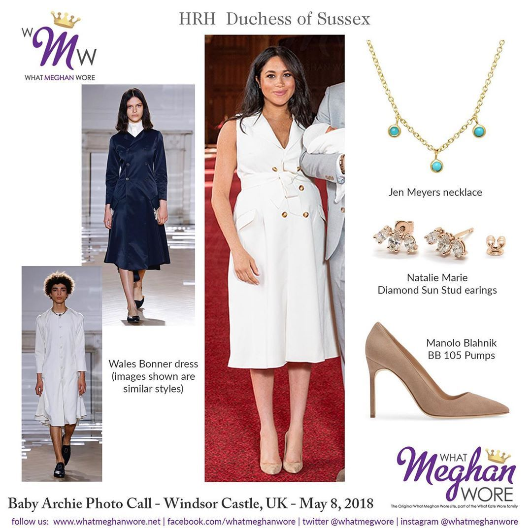 Whatmeghanwore On Instagram Radiant In White Meghan Is All A Glow For Baby Archie S Debut Meghan Markle Outfits Royal Fashion Meghan Markle Style