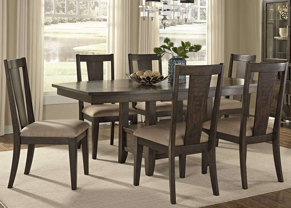 Liberty Furniture Dining Sets  Liberty Furniture Patterson 7 Cool Espresso Dining Room Sets 2018