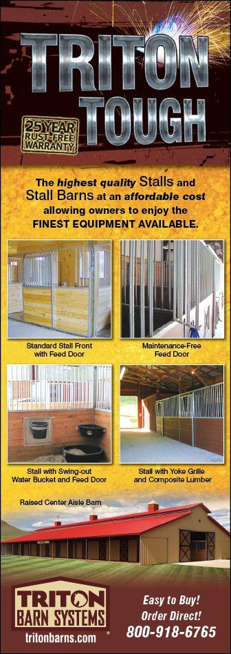Triton Barns Stalls have a 25 year rust free warranty.