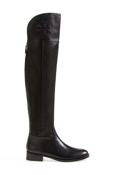 2a1c772815cd Free shipping and returns on Tory Burch  Simone  Over the Knee Boot (Women)  at Nordstrom.com. Immaculate topstitching outlines a soaring over-the-knee  boot ...