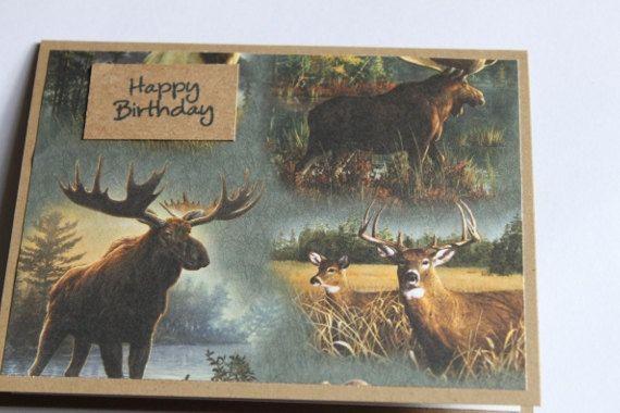 Hunting Birthday Card Deer Moose Hunting Birthday Deer Hunting Birthday Birthday Cards
