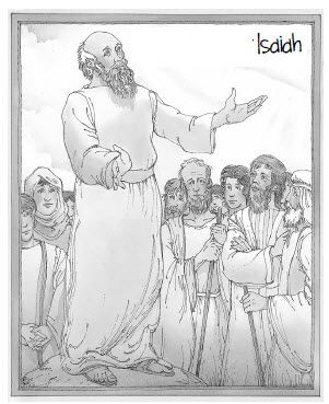 isaiah and micah coloring pages | The prophet Isaiah Coloring Sheet | Children's Church ...