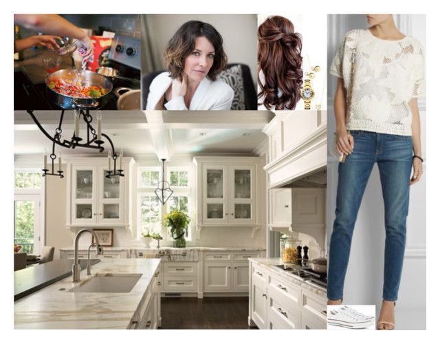 """Helping Julia prepare dinner ahead of the family dinner with her siblings in the evening"" by swedish-princess ❤ liked on Polyvore featuring Georg Jensen, Yoko London and Converse"
