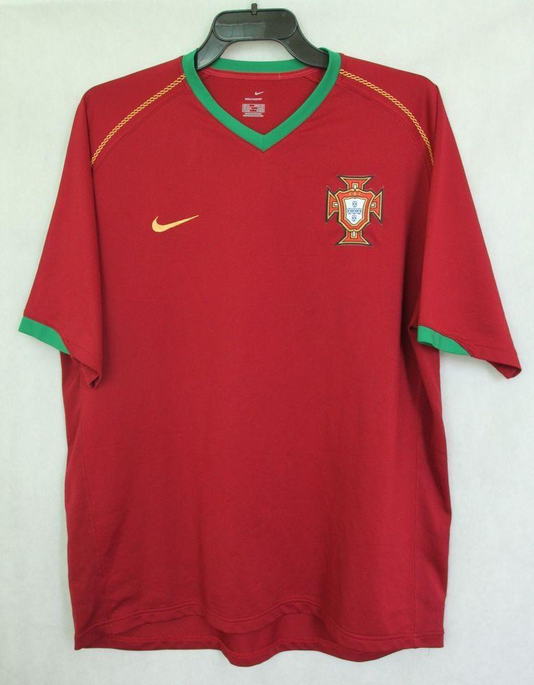 4f3397c2f NIKE Portugal National Team 2006 2008 Home Jersey Shirt Top sz XL 45 47  188cm  Nike