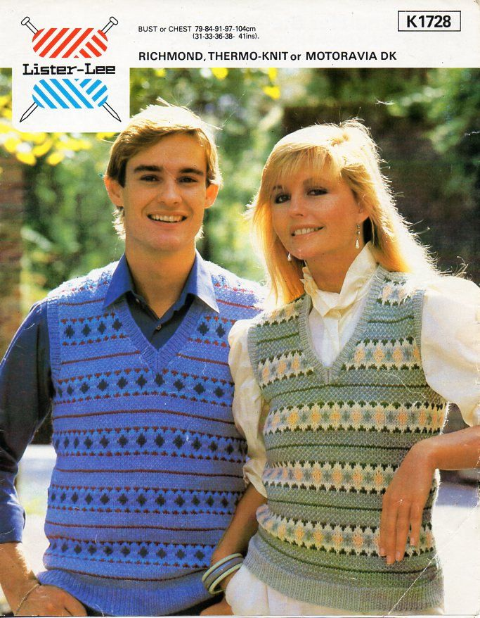 womens / mens fair isle slipover knitting pattern PDF DK ladies ...