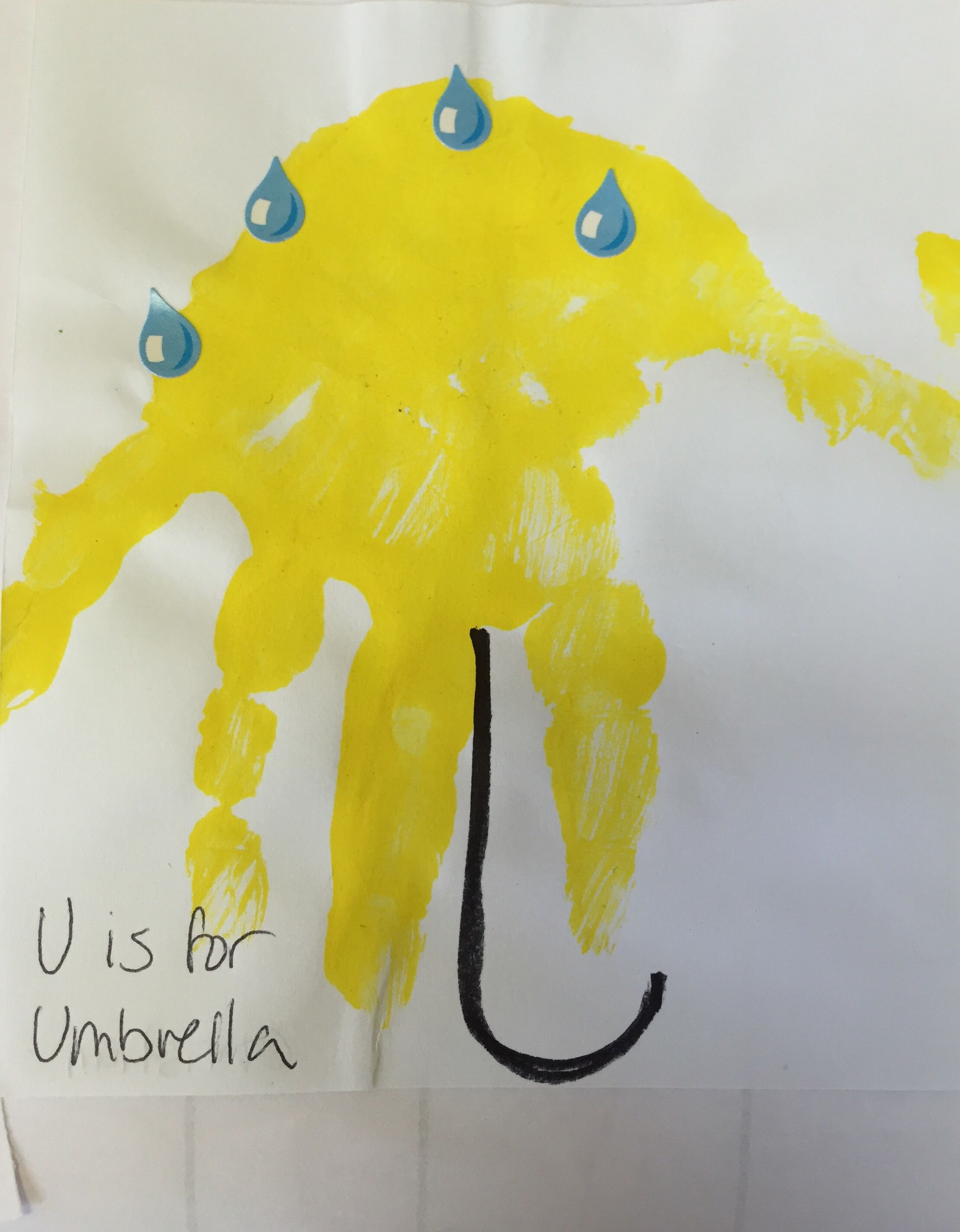Letter U Handprint Craft