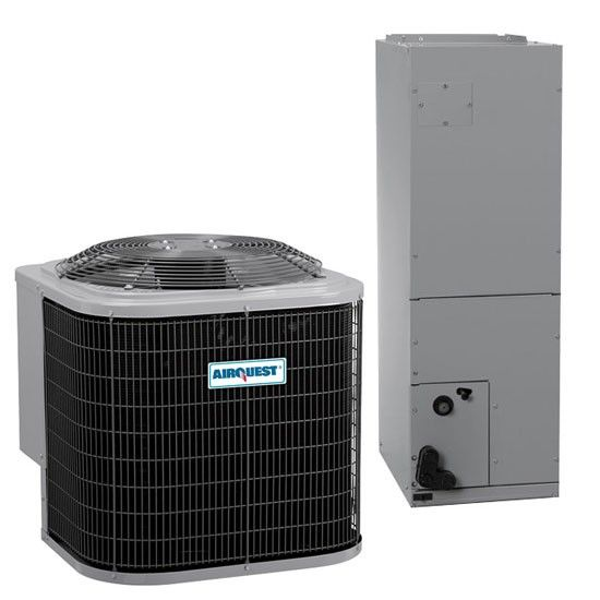 2 Ton 15 5 Seer Airquest By Carrier Heat Pump Air Conditioner System Heat Pump Air Conditioner Heat Pump System Water Heater