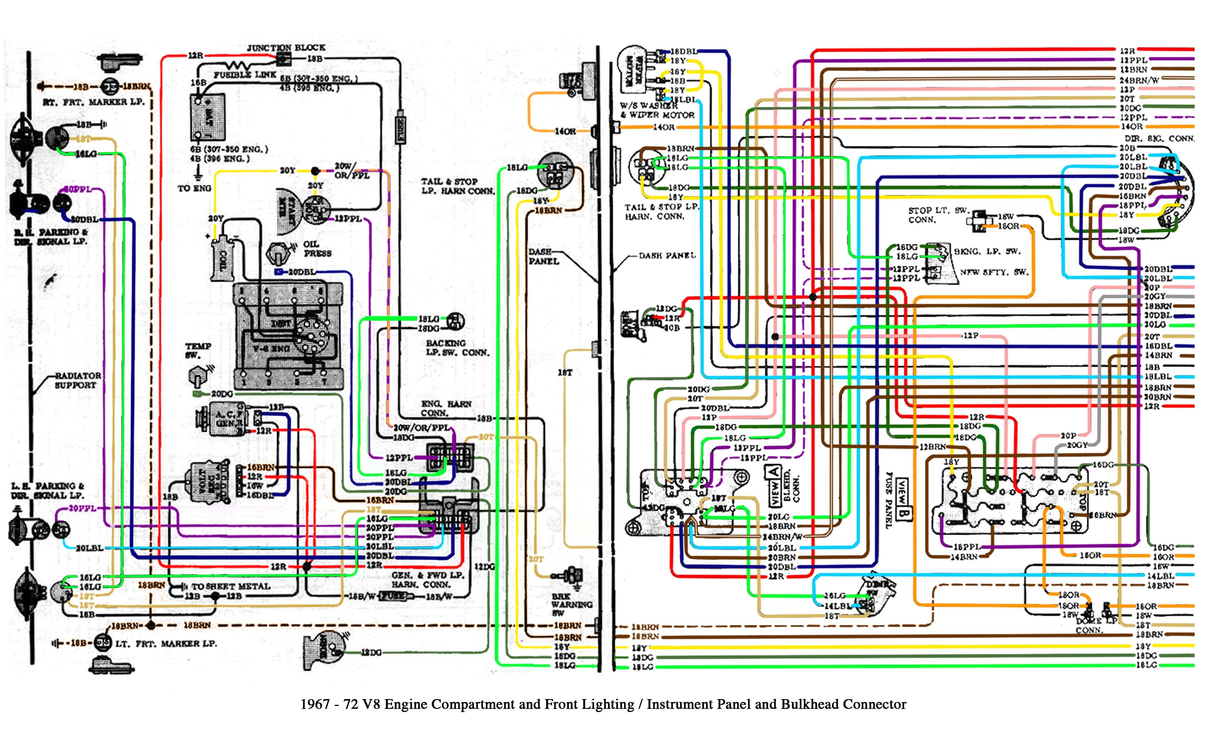 Color Wiring Diagram Finished The 1947 Present Chevrolet Gmc Throughout 1972 Chevy Truck 72 Chevy Truck Chevy S10 Chevy Trucks