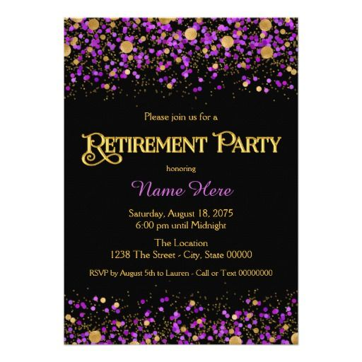 The Legend Has Retired Purple Glitter Banner Retirement Party Decorations Supplies and Gifts