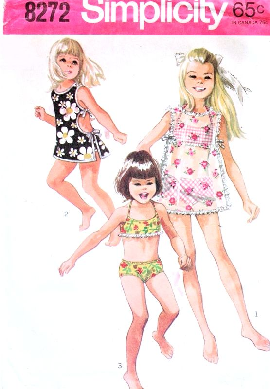 11caea107458c 1960s SWEET Little Girls Toddlers Swimsuit and Beach Cover Up Pattern  SIMPLICITY 8272 Cute 2 pc Bathing Suit Swimming Suit Childrens BeachWear  Size 4 ...