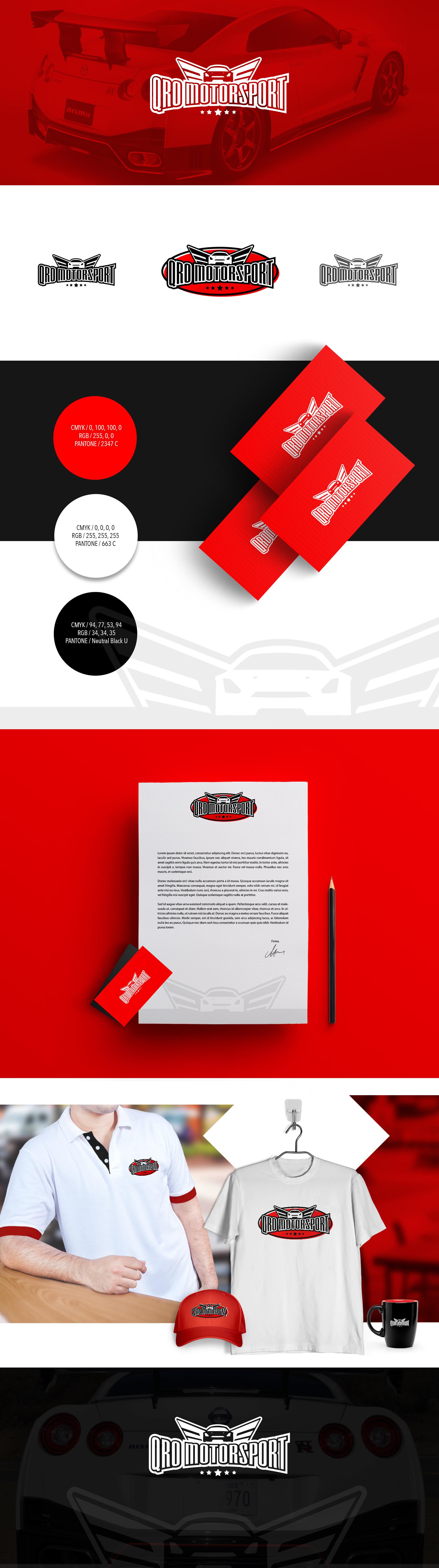 desarrollo de branding para qromotorsport por fernando lugo glz caliente color of the year pms 300 code