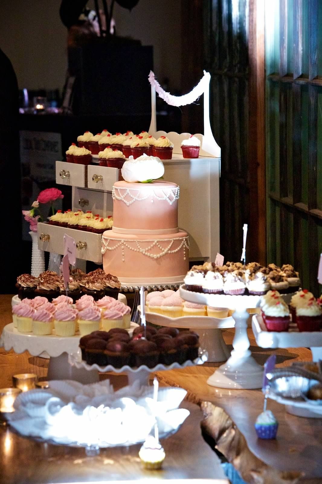 Dessert Table Wedding 2 Bite Cupcakes Cake Envy Tier