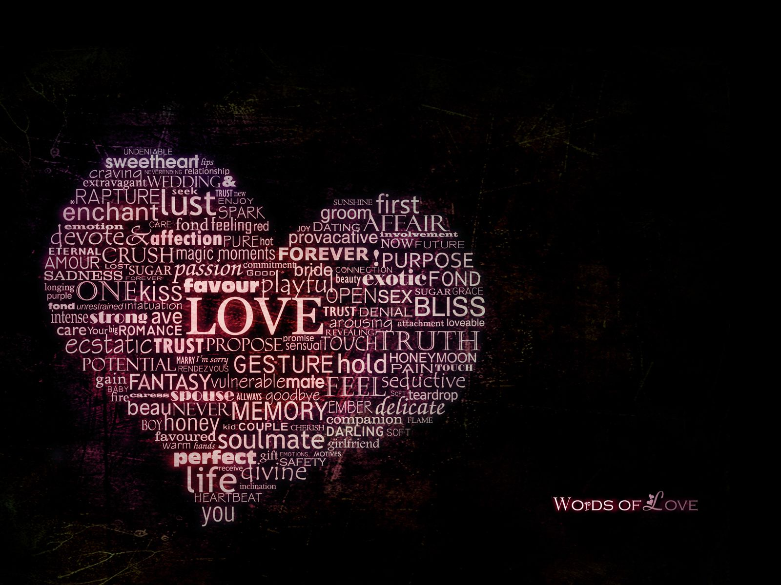 Words Of Love HD Wallpaper In Full HD From The Valentineu0027s Day Category.