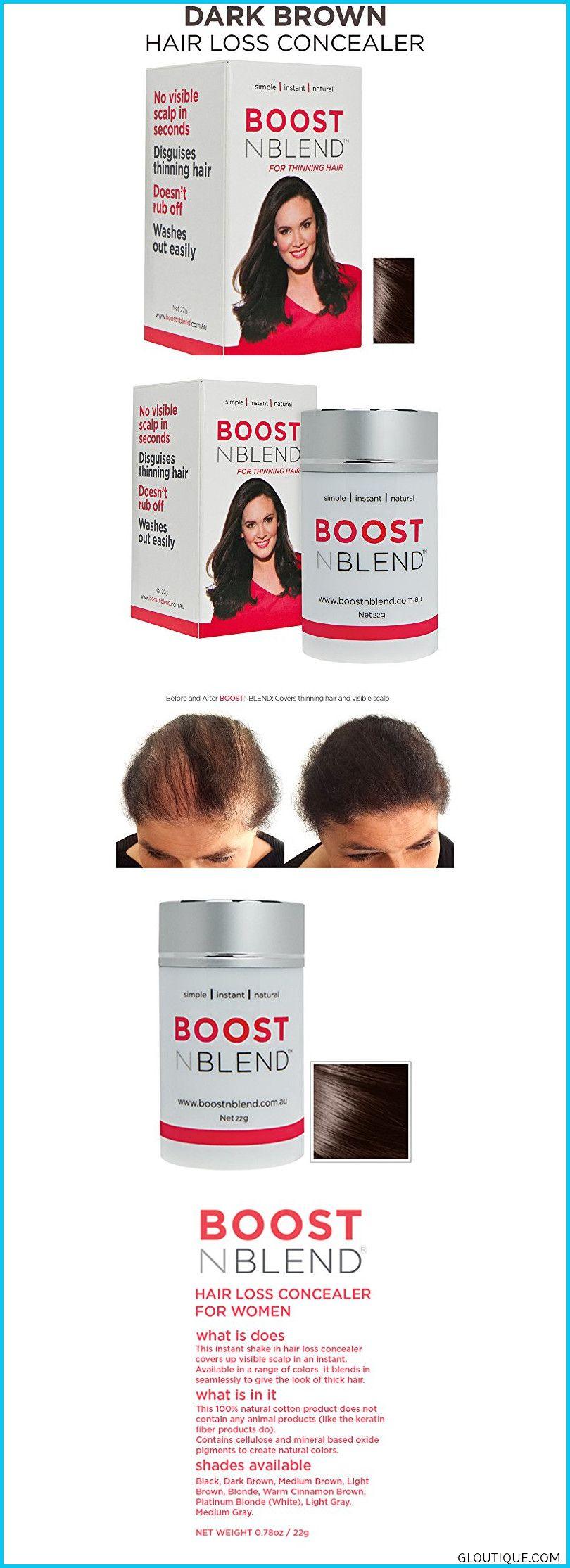 Boost N Blend Dark Brown Hair Fibers For Thinning Hair Women S Hair Loss Concealer Thick Natural Cotton Hair Building Fiber Filler For Women Hair Thickeni Thick Hair Styles