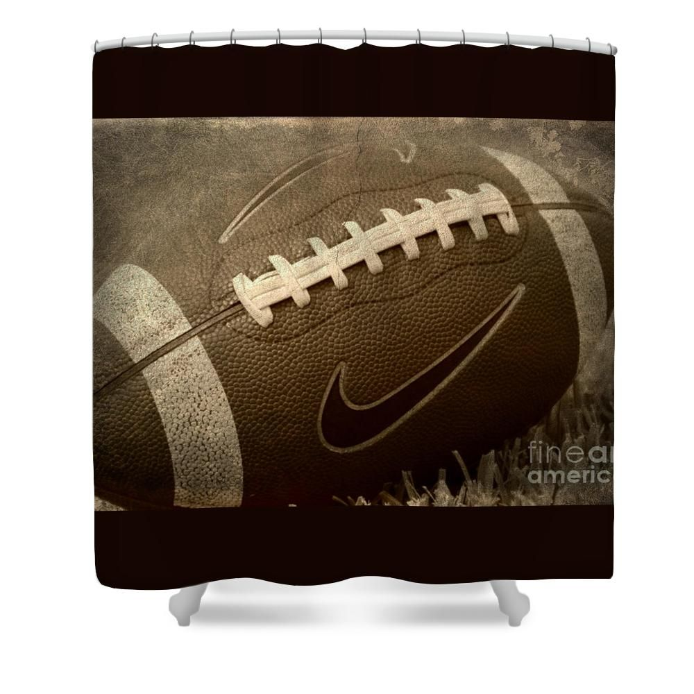 Rustic Football Shower Curtain For Sale By Amy Steeples Football