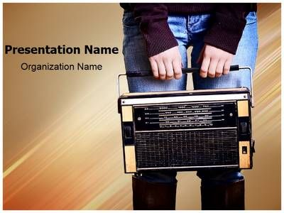 vintage radio music powerpoint template is one of the best, Modern powerpoint