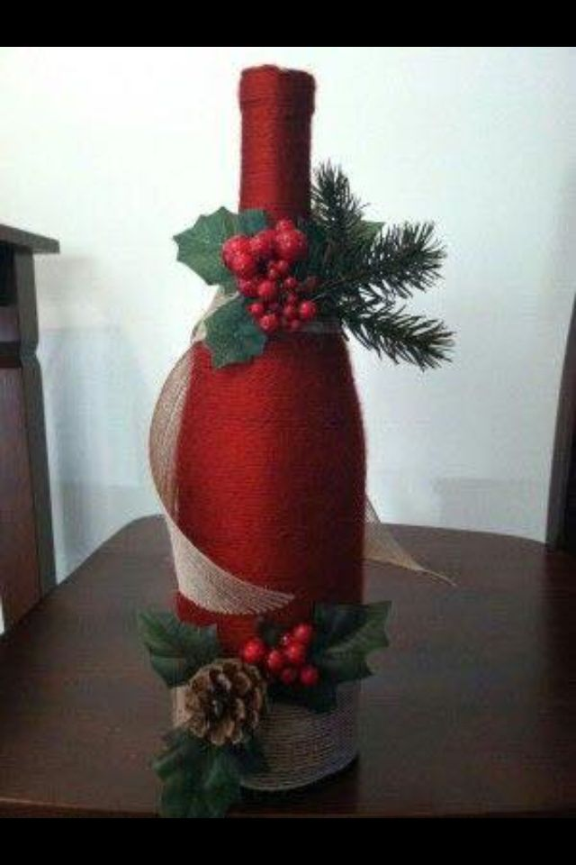 bouteille de vin glass jars bottles bulbs pinterest noel bouteille et deco noel. Black Bedroom Furniture Sets. Home Design Ideas