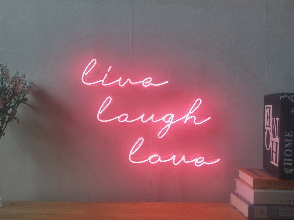 New Live Laugh Love Neon Sign For Bedroom Wall Home Decor Artwork With Dimmer Ebay Neon Sign Bedroom Neon Signs Man Cave Room