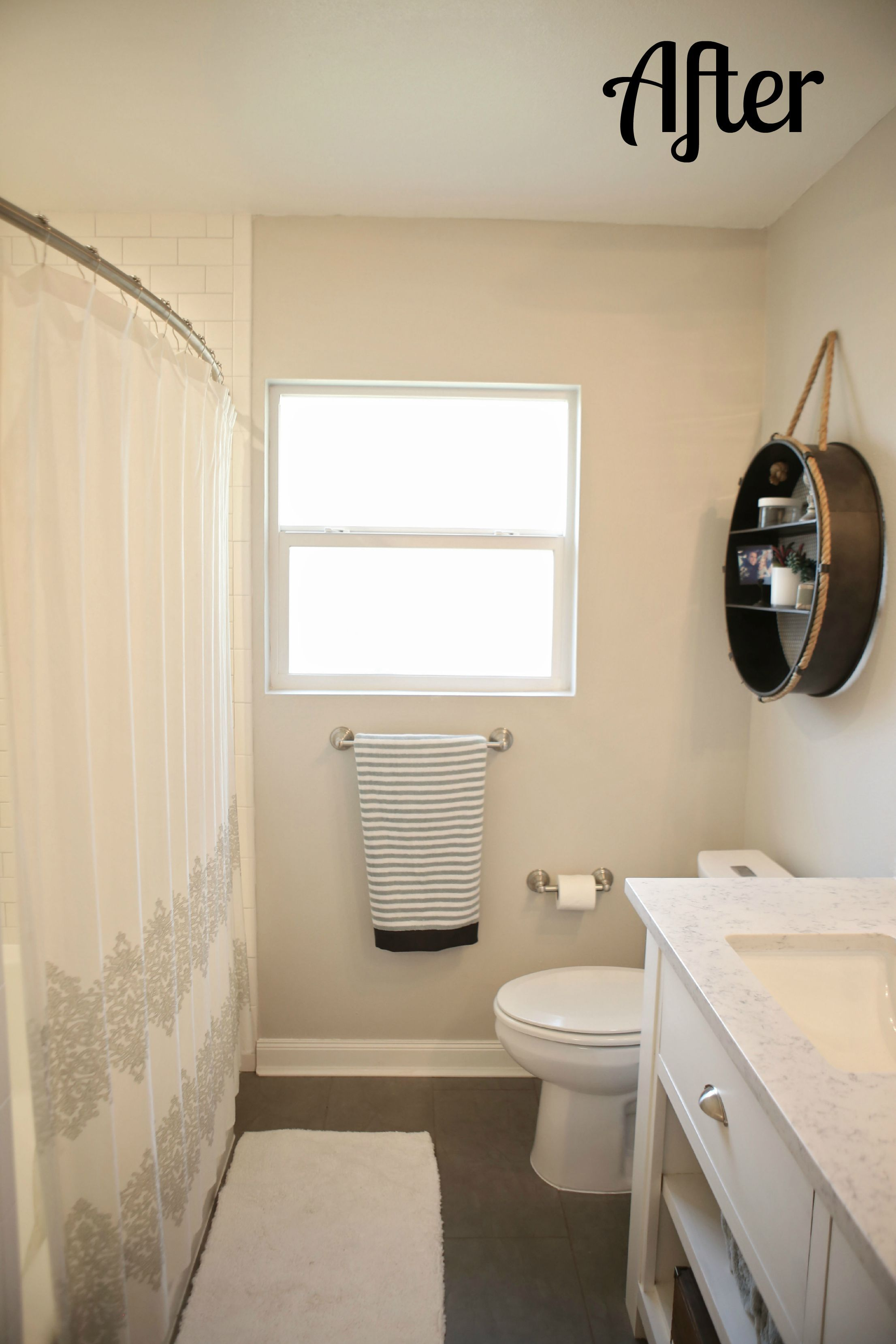 My husband and I completely updated our 1950\'s bungalow bathroom ...