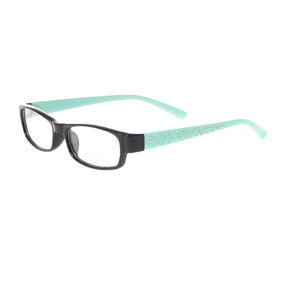 Black rectangle frames with mint green arms and crystal accents black rectangle frames with mint green arms and crystal accents jeuxipadfo Gallery