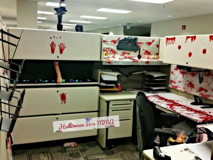 2014 halloween at the office halloween cubicle more - Office Halloween Decorations