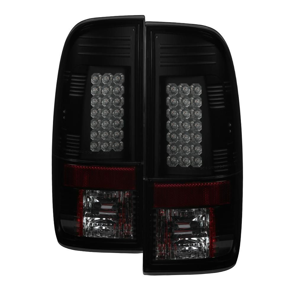 Spyder Auto Ford F150 Styleside 97 03 F250 350 450 550 Super Duty 99 07 Led Tail Lights Black Smoke Led Tail Lights Tail Light Black Smoke
