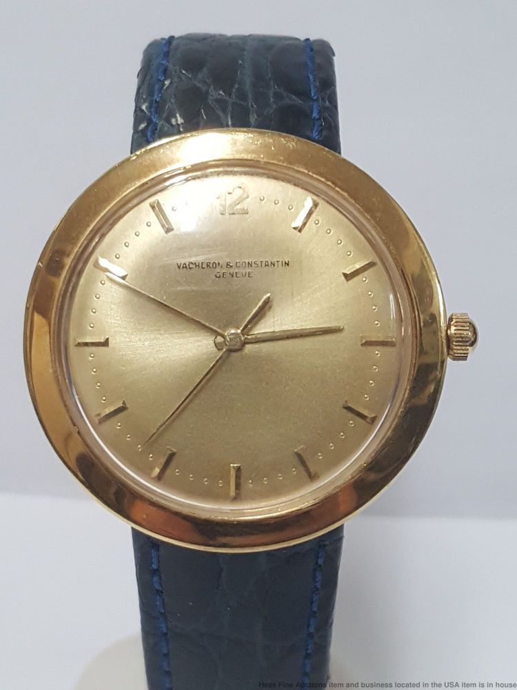 a103ee9b8 Large Sweep Second Vacheron Constantin Hidden Lugs 18k Gold Orig Dial Mens  Watch #VacheronConstantin #DressFormal