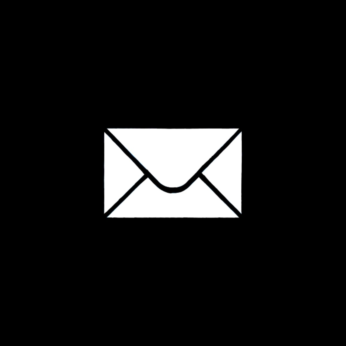 Black Aesthetic Email App Icon For Ios14 App Icon Phone Icon Iphone Icon