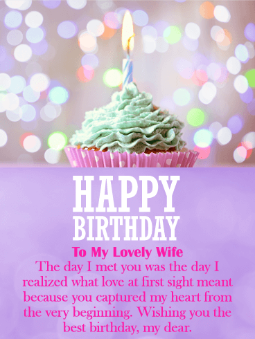 You Captured My Heart Happy Birthday Card For Wife A Pretty