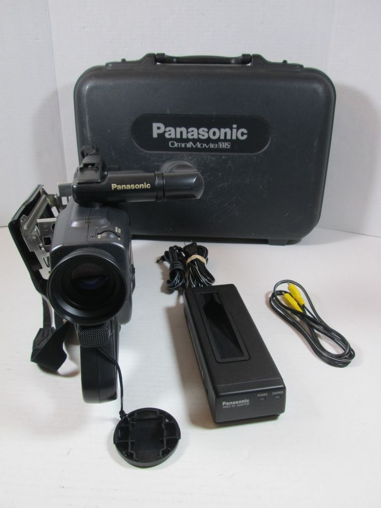Panasonic Omnimovie Camcorder Pv 908 Vhs With Case Panasonic Camcorder Cool Electronics Vhs