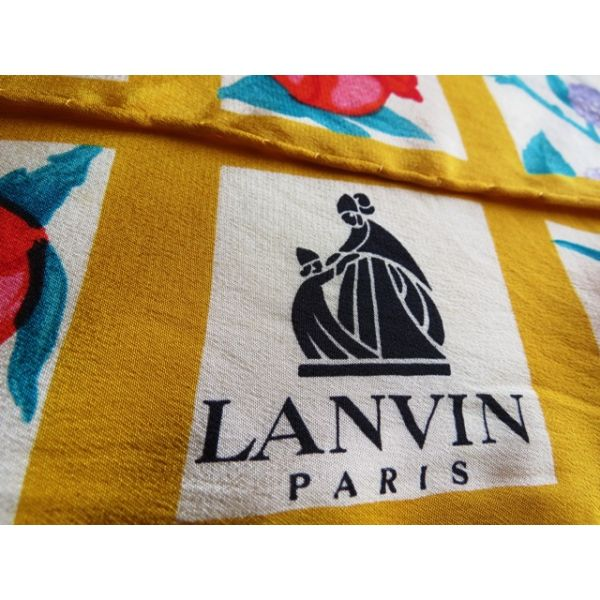 f6f53e6aa127 seta, scarf, sciarpa, seidentuch, Lanvin, Foulard Carré, en Soie ...