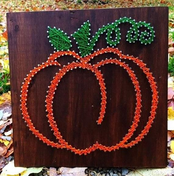 String Art Fall Pumpkin Board - Multiple Sizes #stringart