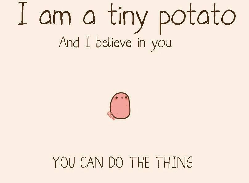 Funny Little Motivational Potato Imgur Quotes Inspirational Positive Positive Quotes Quotes To Live By