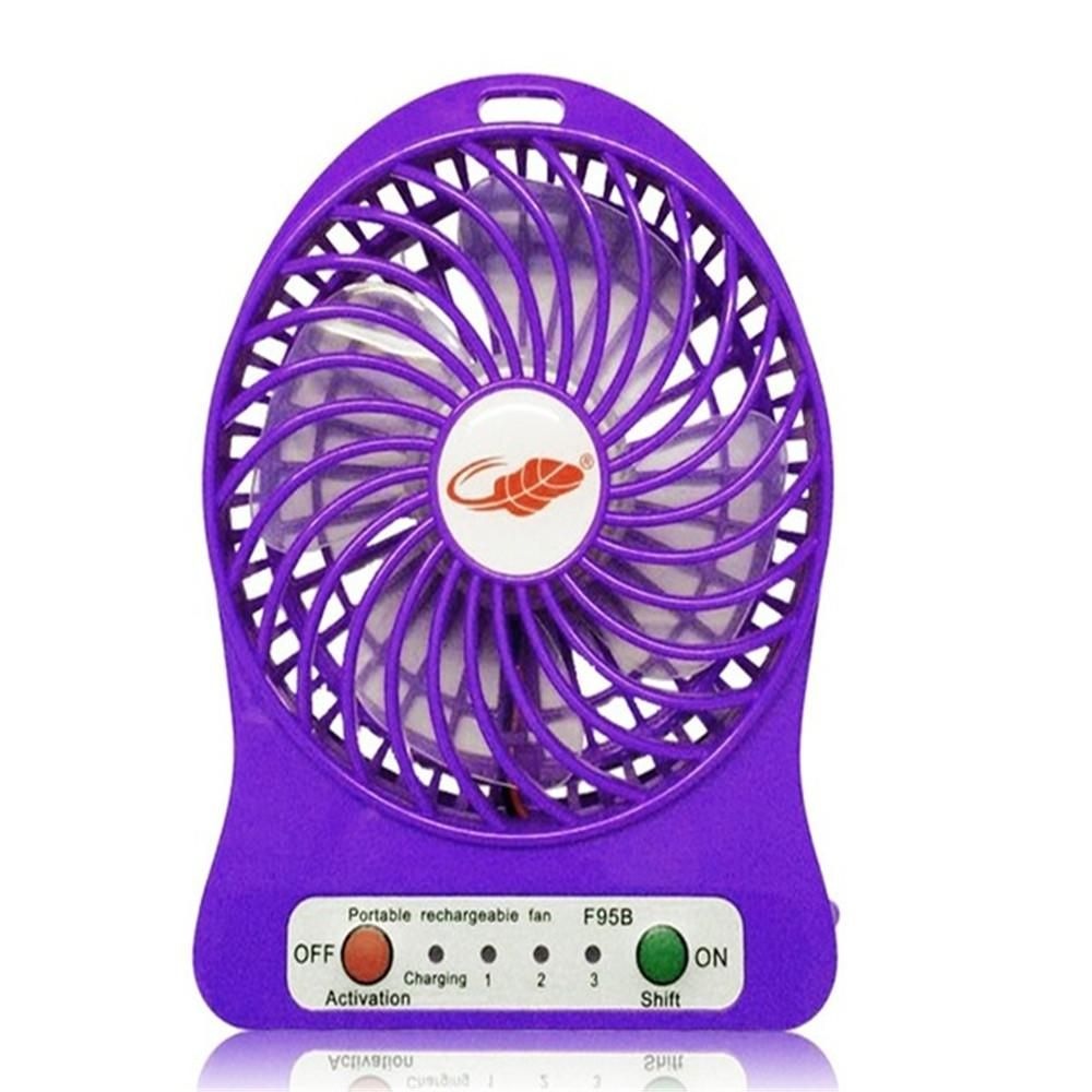 Photo of Portable Mini USB Fan Small Desk Pocket Handheld Air Rechargeable 18650 Battery Cooler For Home Office – Orange