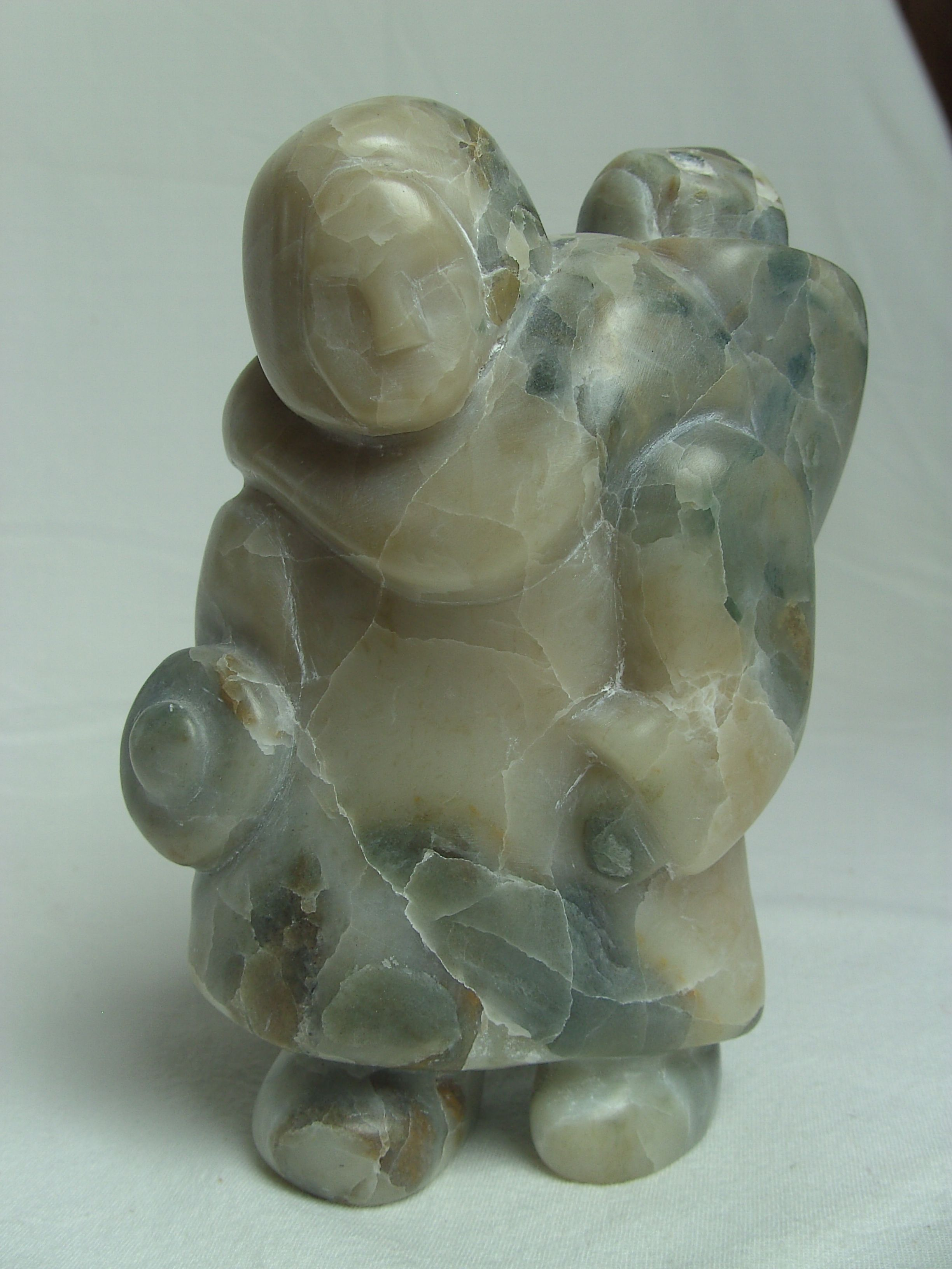 inuit soapstone carving inspiration woman with child soap stone