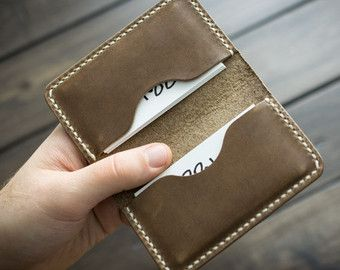 Personalized Handmade Leather Business Card Holder Card By Echosix Minimal Leather Wallet Card Holder Leather Slim Leather Wallet