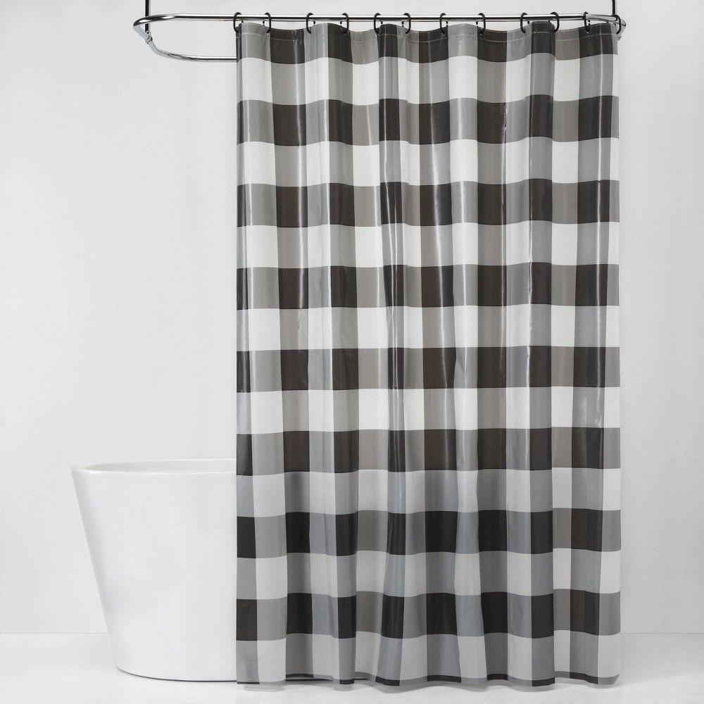 plaid shower curtain