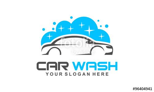 Vector Car Wash Logo Modern Car Wash And Professional