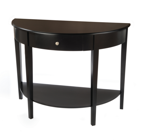 Half Circle Console Table Black