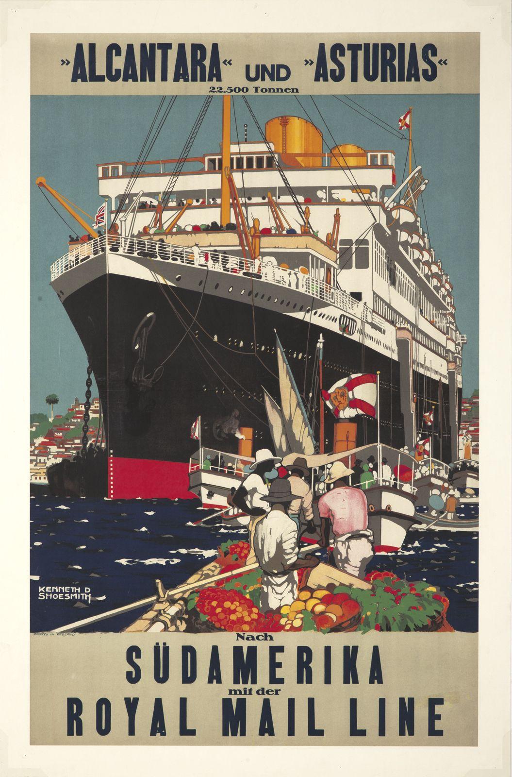 Original vintage poster EAST ASIATIC COMPANY OCEANLINER