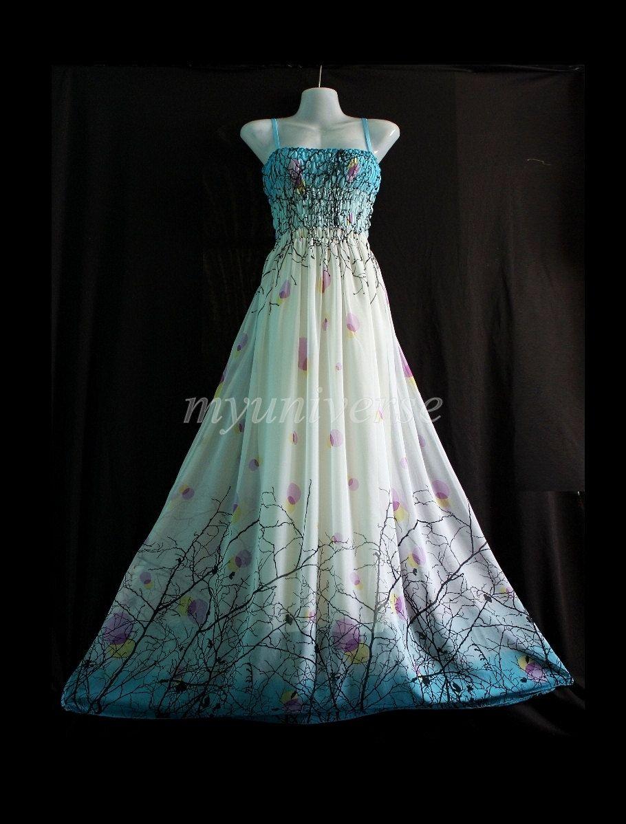 Maxi prom dress bridesmaid dress wedding plus size by myuniverse