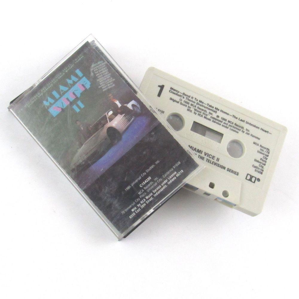 Miami Vice Ii New Music From The Television Series Cassette Mca 1986 Mcac 6192 Tvscoresoundtrack Audio Tape Miami Vice Cassette
