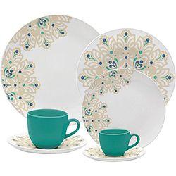 Aparelho De Jantar 30 Pecas Porcelana Lindy Hop Oxford