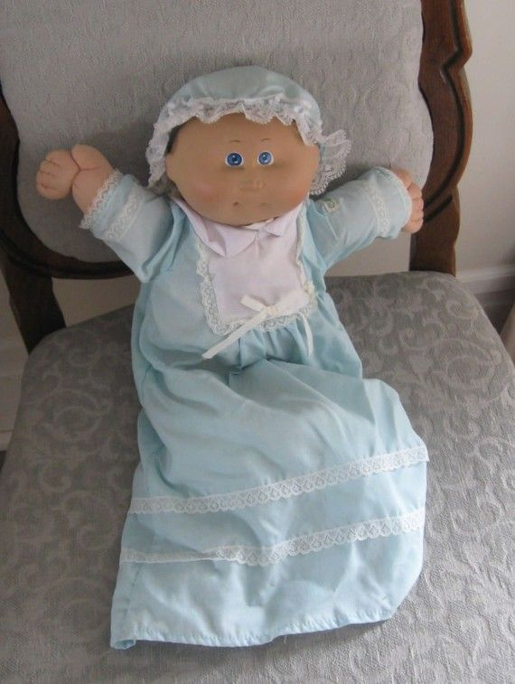 1985 Coleco Cabbage Patch Doll Preemie Blue Eyes Light Brown Etsy Cabbage Patch Dolls Patch Kids My Childhood Memories