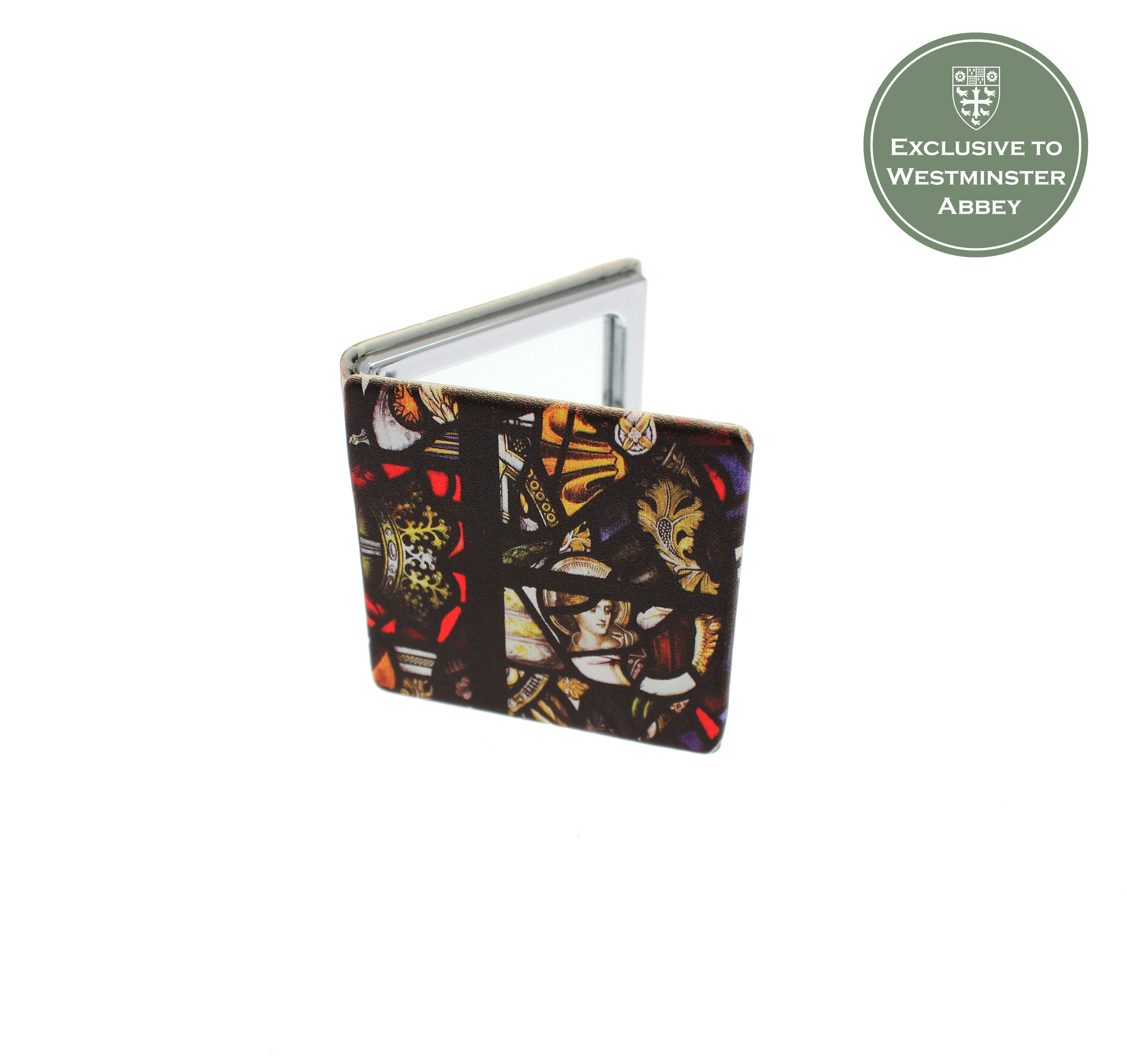 Westminster Abbey Cloisters Stained Glass Compact Mirror Stained