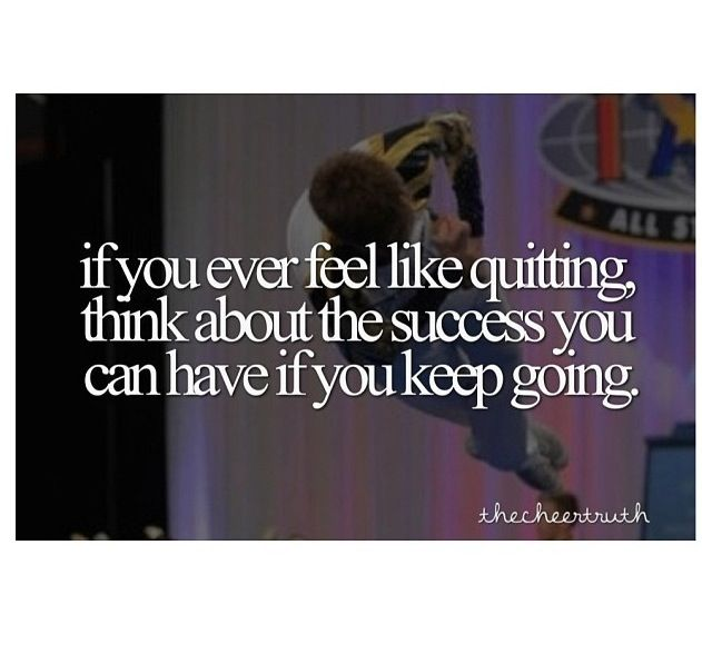 if you ever feel like quitting, think about the success you can have if you keep going. #BeEpic