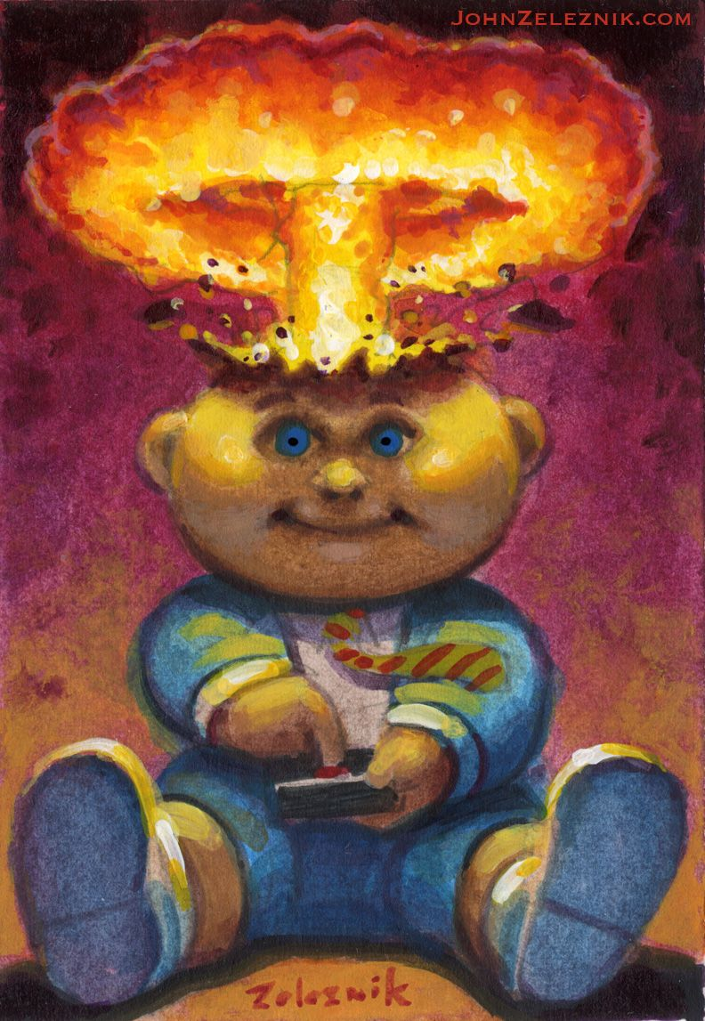 Pin On Garbage Pail Kids Commissions