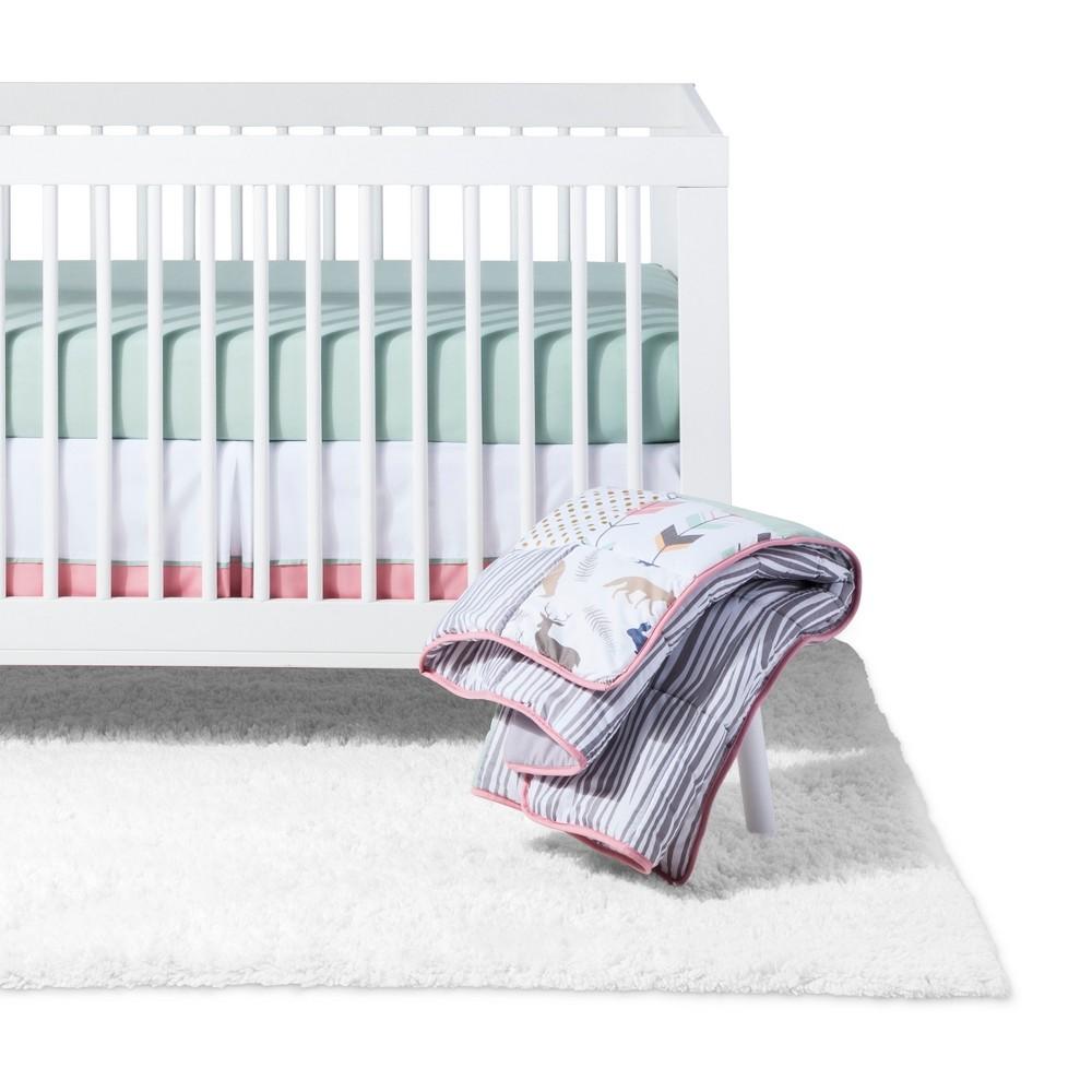 Sweet Jojo Designs Crib Bedding Set Coral Mint Woodsy 11pc