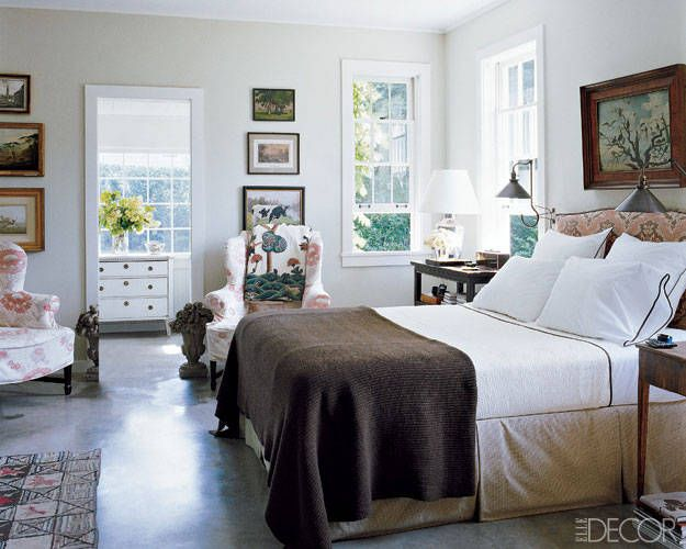 country elegance in this bedroom in millbrook new york has an aristocratic yet casually elledecorcom - Elle Decor Bedrooms