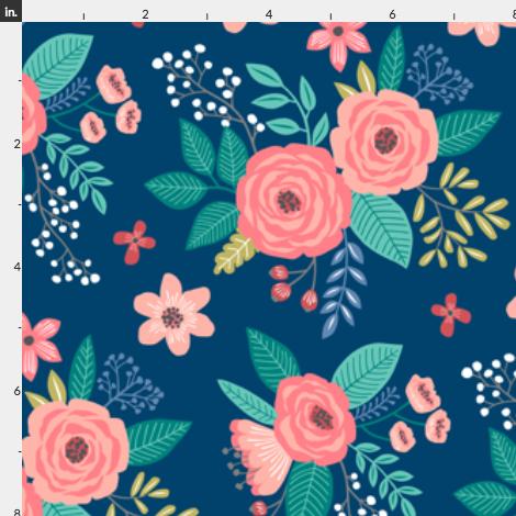 Vintage Floral Small Wallpaper, Prints, Floral prints